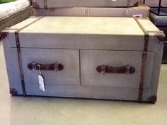 Antique canvas coffee table - Less 60% from Impulse Imports