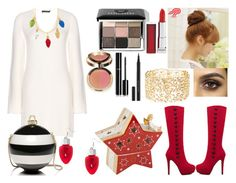"""""""Xmas Lights Dress"""" by mikage44 on Polyvore featuring Calvin Klein Collection, Pin Show, Kate Spade, Maybelline, Bobbi Brown Cosmetics, Villeroy & Boch, Chanel, Kevyn Aucoin and Charlotte Russe"""