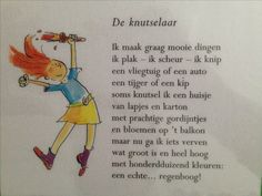 Versje over knutselen Learn Dutch, He Said She Said, Back To School, Texts, Fairy Tales, Poems, Crafts For Kids, Preschool, Drama