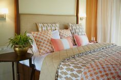 Hand printed bedding set  Beige drop printed by Paperskyhome