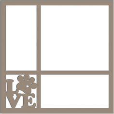 Love (Puppy Paw) - Laser Die Cut Scrapbook Overlay
