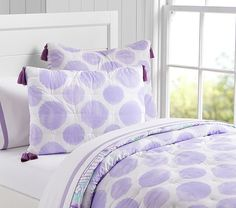 Watercolor Spot Quilted Bedding | Pottery Barn Kids