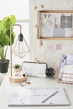 Primark study homeware accessories school uni marble copper scandi minimal