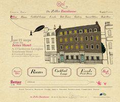 Website design we did for the wonderful Zetter Townhouse on St. John's square, London