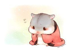 Caring Guide for Baby Hamsters Art Kawaii, Cute Animal Drawings Kawaii, Kawaii Chibi, Cute Chibi, Kawaii Drawings, Cute Drawings, Hamster Kawaii, Baby Hamster, Anime Animals