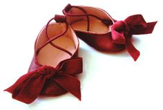 Baby Girl Ballet Flat in Red Leather by mixnmatchoriginals on Etsy, $42.00