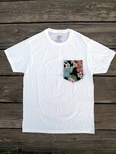 Floral Pocket Tee by DreamBoundIndustry on Etsy, $25.00