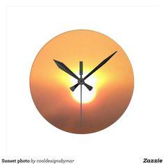 sunset photo wall clocks