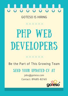 Php Web Developer Jobs in Mohali #PHPJobs #PHPJobsInMohali #PHPWebDeveloperJobs #JobsInMohali