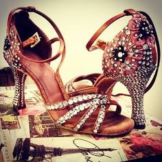 Image result for stoned latin ballroom shoes