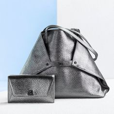 Dazzle the room with these eye-catchers: Our new Handbags in a hammered silver. New Handbags, Hammered Silver, Calf Leather, Fashion Backpack, Calves, Pouch, Backpacks, Shoulder Bag, Pure Products