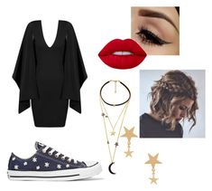 """""""Sem título #82"""" by beleborges on Polyvore featuring beleza, WithChic, Amarilo e Converse"""