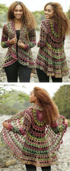 Crochet Circular Jacket Pattern Free Tutorial