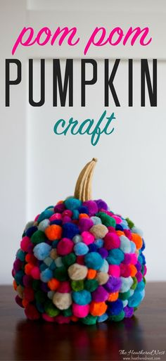 DIY-pumpkin-pom-pom-craft-heatherednest.com