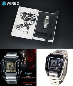 WIRED METAL GEAR SOLID V THE PHANTOM PAIN Digborg 2500 Limited Model Watch 549