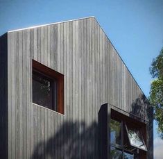 External Charred timber is U.V resistant and not susceptible to fading. We only use Australian hardwoods, all of which attract a BAL 29 fire rating. Wooden Cladding Exterior, Cedar Cladding, Wooden Facade, House Cladding, Cedar Siding, Timber Battens, Timber Walls, Black Cladding, External Cladding