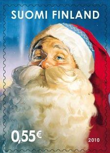 Santa stamp.