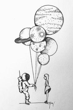 doodle art * doodle art & doodle art journals & doodle art for beginners & doodle art easy & doodle art patterns & doodle art drawing & doodle art creative & doodle art letters Space Drawings, Cool Art Drawings, Pencil Art Drawings, Art Drawings Sketches, Easy Drawings, Drawing Drawing, Tumblr Drawings, Ink Illustrations, Doodle Art