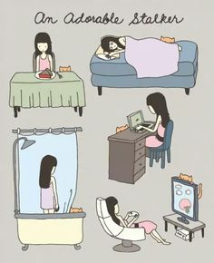 An adorable stalker illustration