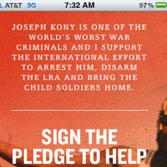 Help bring Kony to justice! http://www.youtube.com/watch?v=Y4MnpzG5Sqc&feature=youtube_gdata_player   kony2012.com   REPIN!