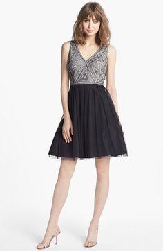 Aidan Mattox Embellished Tulle Dress