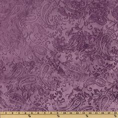 Minky Paisley Cuddle Embossed Violet from @fabricdotcom  This ultra soft and cuddly fabric has a smooth minky surface with paisley embossing. Pile measures 5mm. Fabric is perfect for making ultimate minky blanket, throws, cuddly toys, lounge wear, quilt backing much more!