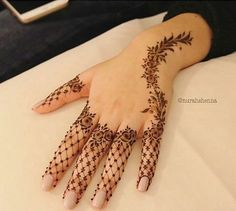 Lately, the mehndi designs have evolved into something uniquely simpler. They are comparatively more casual, easy to design and suits to every single style. A fully loaded mehndi handprint is Henna Hand Designs, Mehandi Designs, Mehndi Designs Finger, Henna Tattoo Designs Simple, Modern Mehndi Designs, Mehndi Design Pictures, Mehndi Designs For Girls, Mehndi Designs For Fingers, Beautiful Mehndi Design