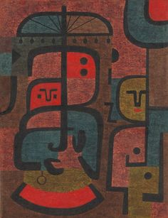 "Paul Klee, ""Exotics"", oil on burlap, 1939. The Art Institute of Chicago."
