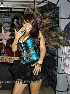 Sexy Homemade Woman's Peacock Costume... Coolest Halloween Costume Contest