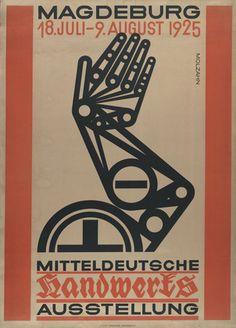 Johannes Molzahn. Mitteldeutsche Handwerks Ausstellung. (Middle German Handicrafts Exhibition). 1925