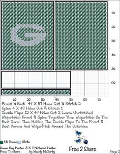Notepad Holder Greenbay Packers, Nfl Green Bay, Sports Logos, Notebook Covers, Checkbook Cover, Disney Crafts, Canvas Crafts, Canvas Ideas, Plastic Canvas Patterns
