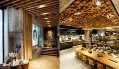 De nieuwste Starbucksvestiging in Amsterdam, een conceptsore. Ziet er prachtig uit.