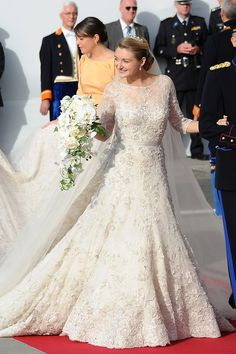 Princess Stephanie of Luxembourg in Elie Saab gown