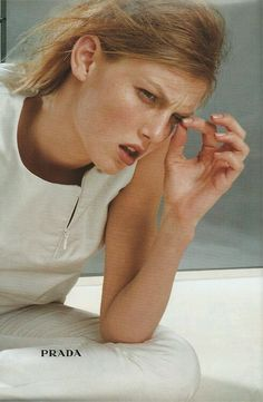 Angela Lindvall by Norbert Schoerner for Prada fw campaign 1998