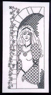 Blackwork Princess - Cross Stitch Pattern