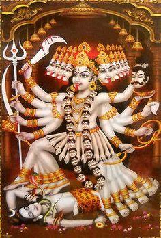 Jai maha Kali -The Mother- Indian Goddess Kali, Durga Goddess, Indian Gods, Jay Maa Kali, Kali Mata, Kali Hindu, Hindu Art, Mother Kali, Divine Mother
