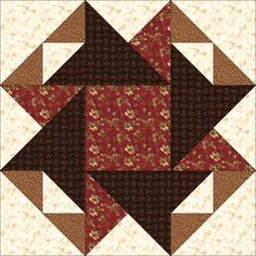 Coffee Mill by Jennifer Chiaverini. This block appears in Quiltmaker's 100 Blocks Volume 6. Ongoing blog tour giveaways: http://www.quiltmaker.com/blogs/quiltypleasures/