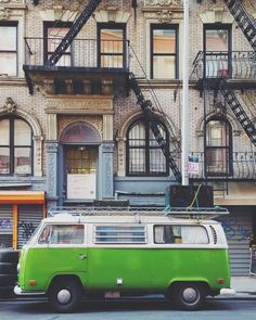 Green VW / photo by Dana Fortune