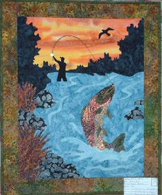 A local I think! Crazy looking Fly Fishing Quilt.