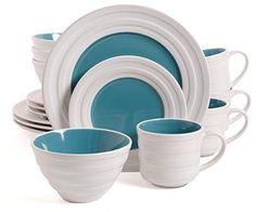 Isaac Mizrahi Caribbean Color 16-Piece Dinnerware Set Blueberry Holiday Plates #IsaacMizrahi