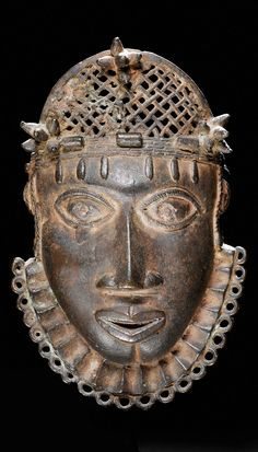 Africa | Hip ornament mask from the Benin Kingdom, Nigeria | Brass/Bronze alloy | ca. mid to late 17th century | 9,600CHF ~ sold (June/08)