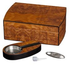 Shop for Visol Matte Walnut Cigar Humidor Gift Set with Cutter and Ashtray. Get free delivery On EVERYTHING* Overstock - Your Online Humidors & Cigars Shop! Get in rewards with Club O! Best Gift For Wife, Best Gifts For Her, Gifts For New Moms, Gifts For Husband, Pipes And Cigars, Cigars And Whiskey, First Fathers Day Gifts, Mother Gifts, Lofts