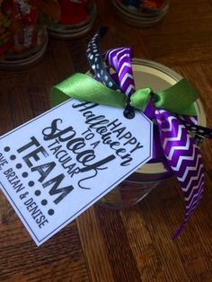 """FREE LESSON - """"Editable Spooktacular Gift Tags"""" - Go to The Best of Teacher . Halloween Teacher Gifts, Halloween Tags, Halloween Decorations, Employee Appreciation Gifts, Employee Gifts, Staff Gifts, Client Gifts, Hallowen Ideas, Teacher Appreciation Gifts"""