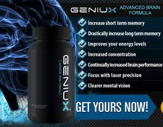 Geniux is the number one brain booster pill worldwide. Try it out today and get increased concentration.
