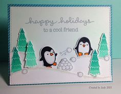 https://flic.kr/p/zvsgYf | penguins | Using some of the new Holiday Lawn Fawn stamps Please visit my blog judymt.blogspot.ca/2015/10/penguins.html