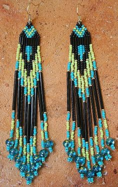 Rio - Colorful Seed Beaded Earrings