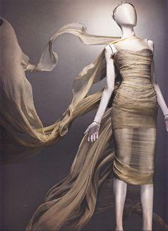 Alexander McQueen Spring/Summer 1998  Dress, Untitled Ivory silk   Photographed by Sølve Sundsbø for Alexander McQueen: Savage Beauty