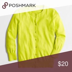 J. Crew Neon Yellow Clare Cardigan J. Crew Neon Yellow Clare Cardigan. Add a pop of color to any outfit with this cardigan. Gently used, just downsizing my closet for the New Year! J. Crew Sweaters Cardigans