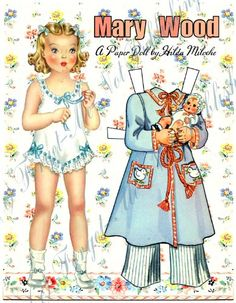 Mary Wood, Restyled 1941 Paper Doll Book, by Hilda Miloche