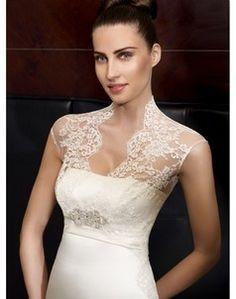 Klassisches Perlen verziertes Spitze Brautkleid